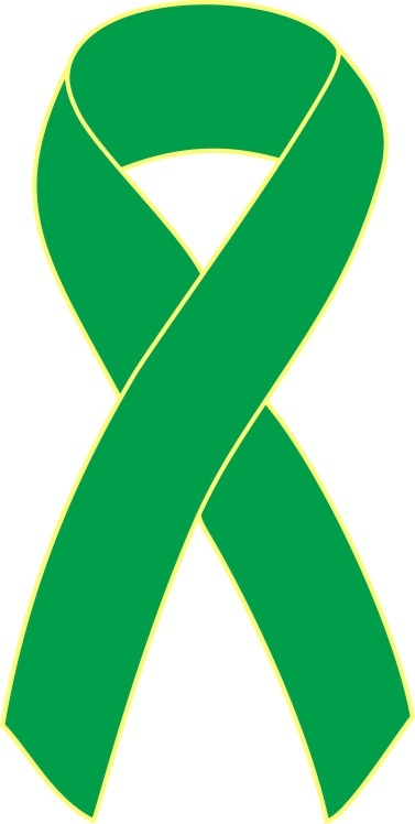 gold plated,made in USA Kidney Cancer Awareness green ribbon angel pin