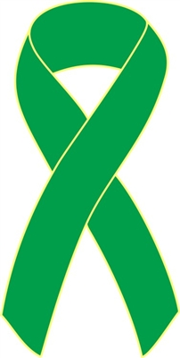 Kidney Cancer Awareness Ribbon Pins - Kelly Green