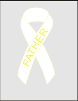 Lung Cancer Awareness Ribbon Pin - White