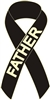 Melanoma Cancer Awareness Ribbon Pins - Black