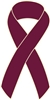 Multiple Myeloma Cancer Awareness Ribbon Pin - Burgundy