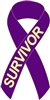 Pancreatic Cancer Awareness Ribbon Pin - Purple