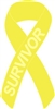 Sarcoma Cancer Awareness Ribbon Pin - Yellow