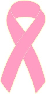 "1"" Breast Cancer Awareness Ribbon Pins - Pink"