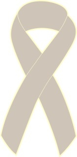 "1"" Cancer Awareness Ribbon Pins - Grey"