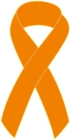 "1"" Cancer Awareness Ribbon Pins - Orange"