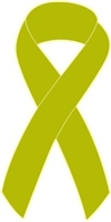 "1"" Cancer Awareness Ribbon Pins - Lime Green"