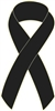 "1"" Cancer Awareness Ribbon Pins - Black"