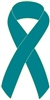 "1"" Cancer Awareness Ribbon Pins - Teal"