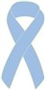 "1"" Cancer Awareness Ribbon Pins - Light Blue"