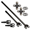 Nitro 4340 Front Axle Kit with Nitro Excalibur U-Joints