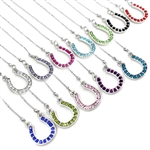 J050 - Rhinestone Horseshoe Necklaces - Package (3)
