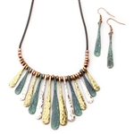 Zia Burst Necklace - Patina - Package (3)