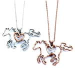 Wire Horse and Heart - Copper or Silver- Package (3)