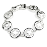 JB004 - Silver Texas Star Magnetic Clasp Bracelet - Package (3)