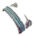 JB042 - Thin Feather Cuff - Patina or Silver - Package (3)