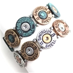 JB182 - Shotgun Shell Bracelet - Three-Tone or Patina - Package (3)