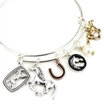Horse Charms Wire Bracelet - Package (3)