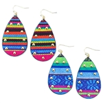 JE021 - Studded Serape Earrings - Sunset or Big Sky - Package (3)