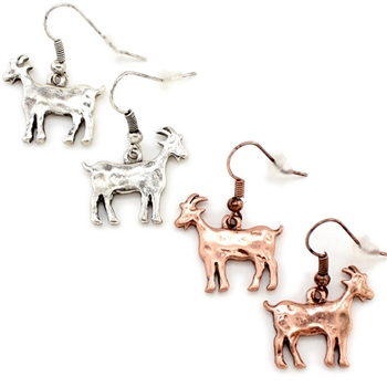 """Billy"" Goat Earring - Copper or Silver - Package (3)"