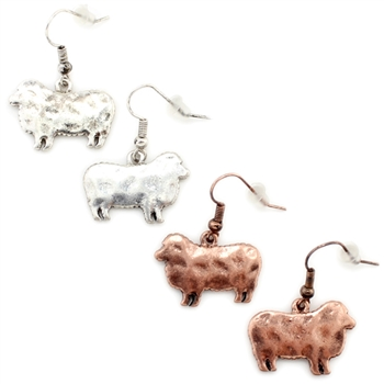 """Dolly"" Sheep Earring - Copper or Silver - Package (3)"