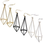 Geo Earrings - Gold, Silver or Black - Package (3)