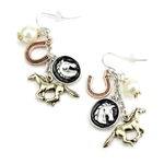 Horse Charms Wire Earrings- Package (3)