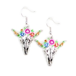 Floral Steer Skull Earrings - Package (3)