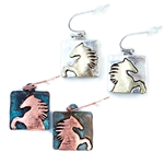 JE292 - Wild Horse Earrings - Silver or Patina - Package (3)