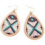 Chevron Parquette Wood Earrings - Package (3)