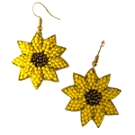 Beaded Sunflower Earrings - Package (3)