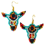 Beaded Steer Skull Earrings - Package (3)