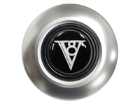 Art Deco V8 Satin Covert 6-bolt Horn Button