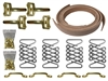 Brass Hood Strap Kit , hot rod , street rod , brass