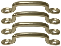 Hood Strap Footman Loops Brass