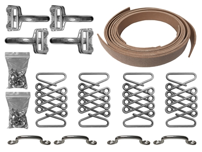 Stainless Steel Hood Strap Kit , hot rod , street rod ,