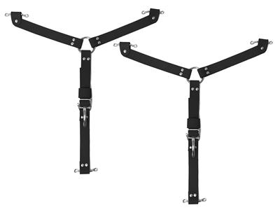 The Black  Y Hood Strap Stainless Steel Kit