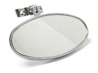 Hot Rod Interior Rear View Oval Mirror