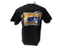 LimeWorks , T-Shirt , Black , Post Card Design , Pin up , Hot Rod , Street Rod , Apparel ,