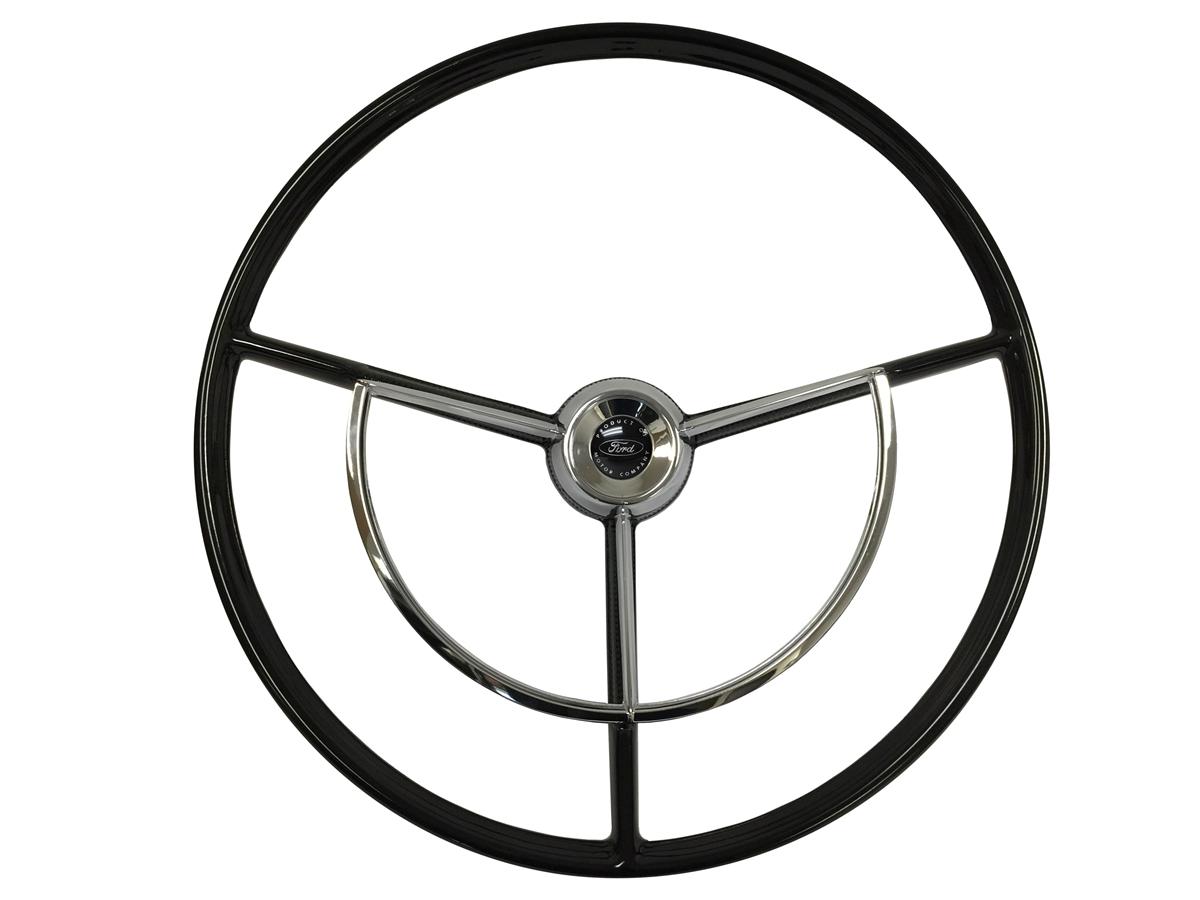 auto pro usa   volante   ford   truck   fairlane   falcon   steering wheel   kit   black   1960