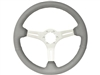 S6 , Sport , grey , leather , Steering Wheel , brushed Center , Auto Pro USA , Volante , GM , MOPAR , FORD , Corvette , Mustang , Charger , Challenger , Camaro , El camino , Impala , bel air , nova , chevy II , oldsmobile , firebird , bronco , vw ,