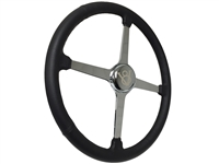 Sprint Steering Wheel Kit, Etched Series Hot Rod V8 - 4 Spoke Design