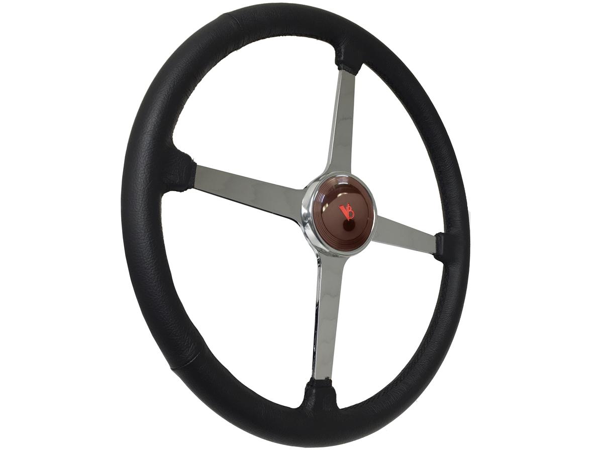 Sprint Steering Wheel Ford V8 Kit - Solid 4 Spoke Hot Rod design
