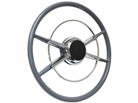 Crestliner Steering Wheel Kit , Hot Rod , Street Rod , F100 , Deluxe , Super Deluxe , Truck , Standard , Black Kit ,