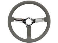 Auto pro usa , volante , S6 , oe restoration , Grey , solid , leather , chrome , Steering Wheel , GM , Corvette ,