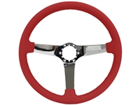 Auto pro usa , volante , S6 , oe restoration , Red , solid , leather , chrome , Steering Wheel , GM , Corvette ,
