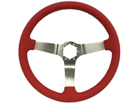 auto pro usa , volante , S6 , oe restoration , solid , Red , leather , brushed , aluminum , Steering Wheel , GM , black , MOPAR , Corvette , Camaro , El camino , Impala , bel air , nova , chevy II , oldsmobile , firebird ,