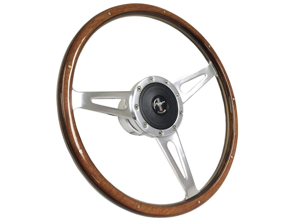 Ford mustang wood sebring shelby steering wheel full kit horn