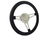 Leather , Steering Wheel Kit , Taper and Key , Ididit , Flaming River , Hot Rod , Street Rod , 3 spoke , slot design ,