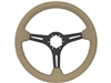 Auto Pro USA , Volante , Sport , tan , leather , Steering Wheel , black Center , anodized , GM , MOPAR , FORD , Corvette , Mustang , Charger , Challenger , Camaro , El camino , Impala , bel air , nova , chevy II , oldsmobile , firebird , bronco , vw ,
